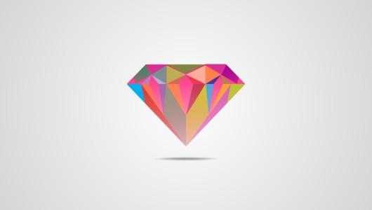 diamond clean color logo vector
