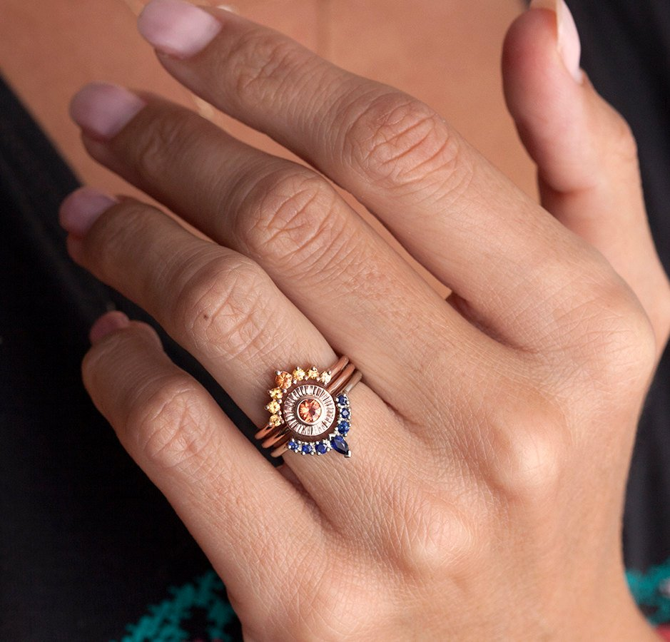 white original lilia nash wedding in liliandesigns set bridal silver engagement product jewellery sapphire ring by