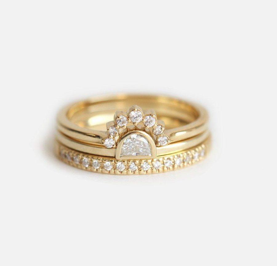half-moon-diamond-ring-set