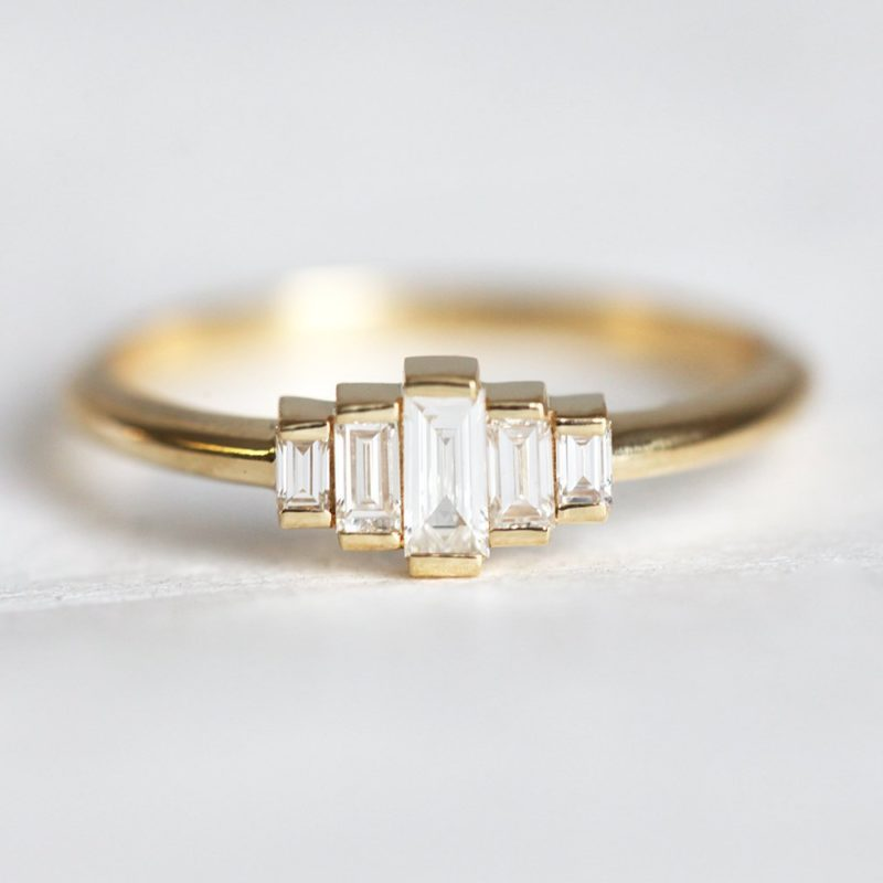 Olivia Art Deco Diamond Engagement Ring