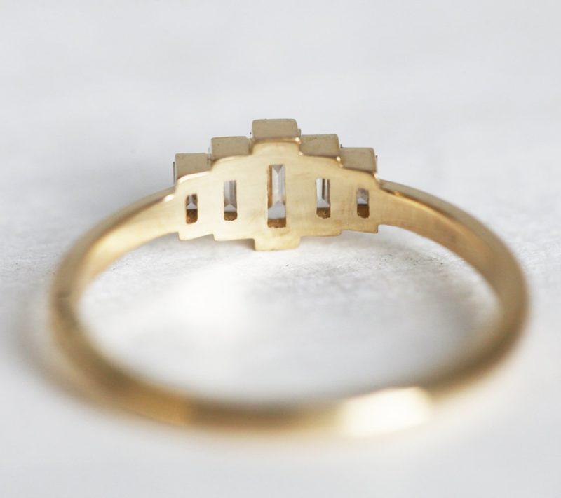 Olivia Art Deco Diamond Engagement Ring