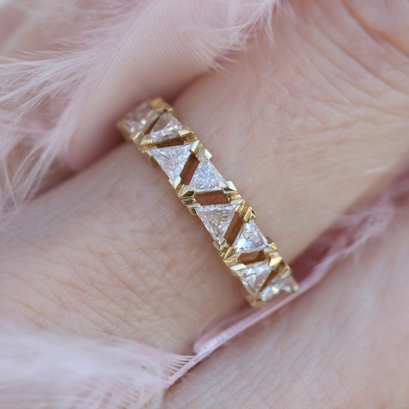 Triangle Diamond Band