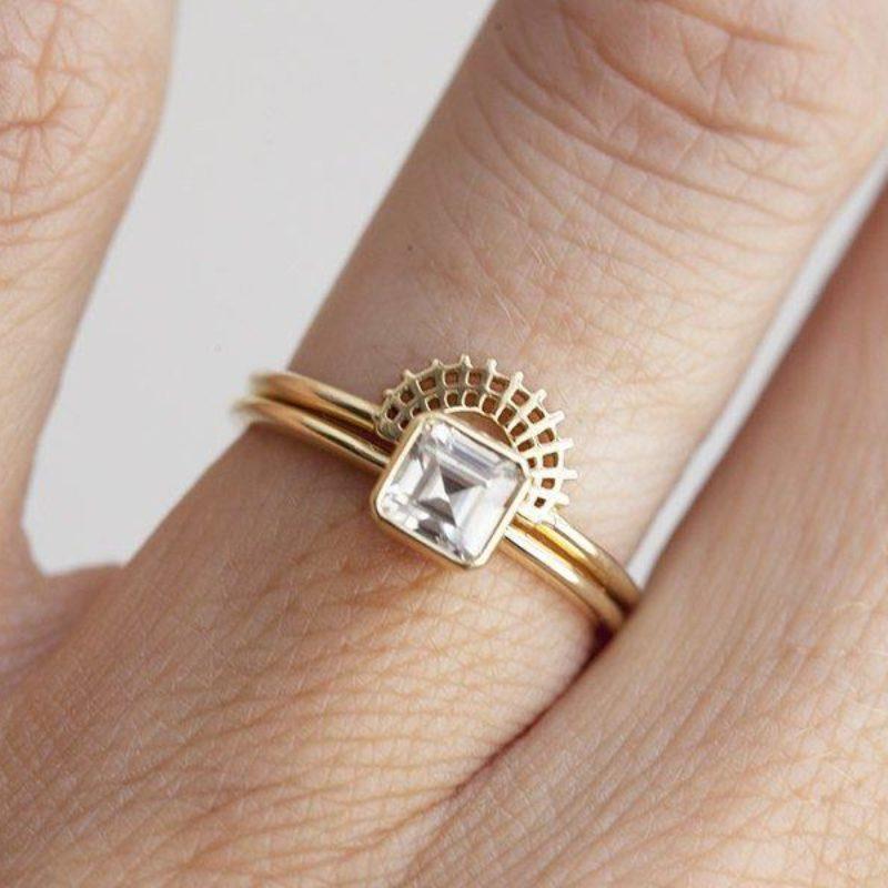 Asscher-Diamond-Ring