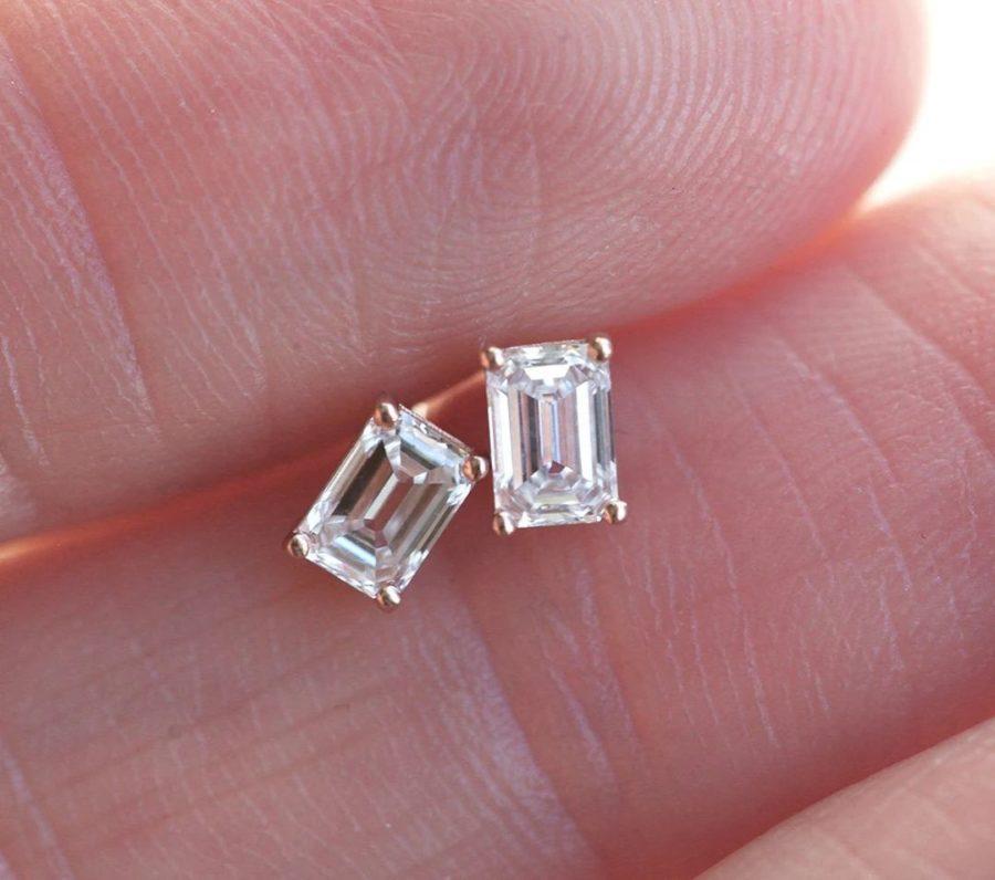 Emerald-Cut-Diamond-Earrings