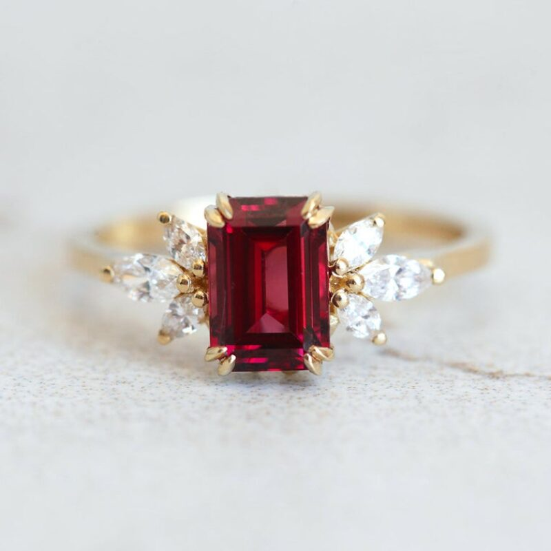 Umba Garnet Diamond Ring6