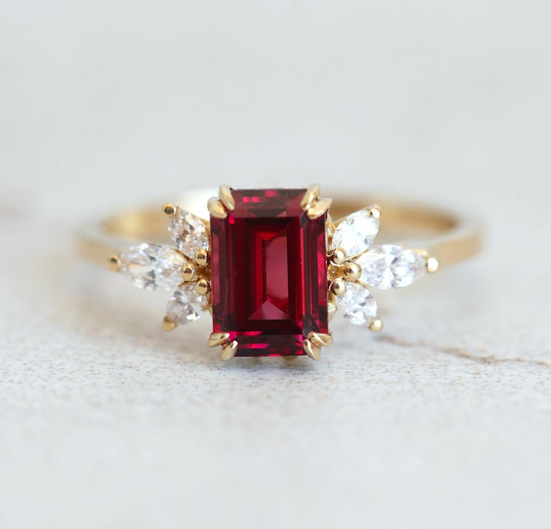 Umba Garnet Diamond Ring6