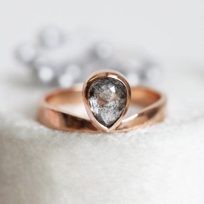 rose-cut-pear-diamond-ring